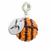 Delaware State Hornet Crystal Drop Charm