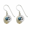 Delta Delta Delta Color and Cultured Freshwater Pearl Earrings