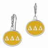 Delta Delta Delta Enamel CZ Cluster Earrings