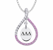 Delta Delta Delta Pink Figure 8 Necklace