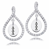 Delta Delta Delta White CZ Figure 8 Earrings