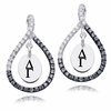 Delta Gamma Black and White Figure 8 Earrings