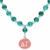 Delta Gamma Turquoise Drop Necklace
