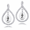 Delta Zeta White CZ Figure 8 Earrings
