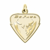 DePaul Blue Demons 14K Yellow Gold Natural Finish Cut Out Logo Charm