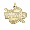Detroit Mercy Titans 14K Yellow Gold Natural Finish Cut Out Logo Charm