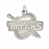 Detroit Mercy Titans Natural Finish Charm