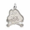East Carolina Pirates Natural Finish Charm
