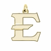 East Tennessee State Buccaneers 14K Yellow Gold Natural Finish Cut Out Logo Charm