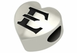 East Tennessee State Buccaneers Heart Shape Bead