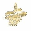 Eastern Kentucky Colonels 14K Yellow Gold Natural Finish Cut Out Logo Charm