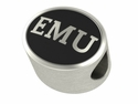 Eastern Michigan Eagles Antiqued Bead
