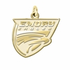 Emory Eagles 14K Yellow Gold Natural Finish Cut Out Logo Charm