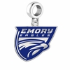 Emory Eagles Silver Logo and School Color Drop Charm