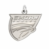 Emory Eagles Sterling Silver Natural Finish Charm