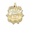 Fresno State Bulldogs 14K Yellow Gold Natural Finish Cut Out Logo Charm