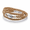 Gamma Phi Beta Leather Bracelet