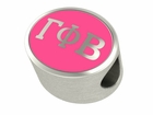 Gamma Phi Beta Silver Sorority Bead Charm