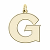 Georgetown Hoyas 14K Yellow Gold Natural Finish Cut Out Logo Charm