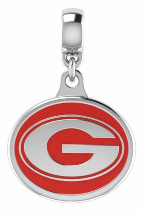 Georgia Bulldogs Silver Drop Charm