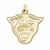 Georgia State Panthers 14K Yellow Gold Natural Finish Cut Out Logo Charm