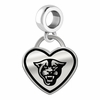Georgia State Panthers Border Heart Dangle Charm