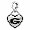 Grambling State Tigers Border Heart Dangle Charm