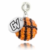 Grand Valley State Crystal Drop Charm