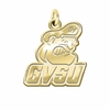 Grand Valley State Lakers 14K Yellow Gold Natural Finish Cut Out Logo Charm