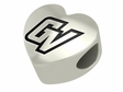 Grand Valley State Lakers Heart Shape Bead