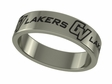Grand Valley State Lakers Stainless Steel Ring