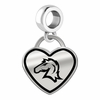Hillsdale Chargers Border Heart Dangle Charm