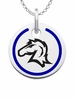 Hillsdale Chargers Round Enamel Charm