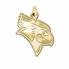 Illinois State Redbirds 14K Yellow Gold Natural Finish Cut Out Logo Charm