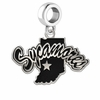 Indiana State Sycamores Logo Cut Out Dangle