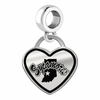 Indiana State Sycamores Border Heart Dangle Charm