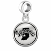 Indiana State Sycamores Border Round Dangle Charm