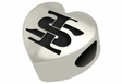 Indiana State Sycamores Heart Shape Bead