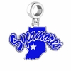 Indiana State Sycamores Silver Logo and School Color Drop Charm