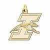 Indianapolis Greyhounds 14K Yellow Gold Natural Finish Cut Out Logo Charm