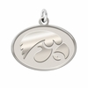 Iowa Hawkeyes Sterling Silver Natural Finish Charm
