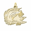 Jacksonville State Gamecocks 14K Yellow Gold Natural Finish Cut Out Logo Charm