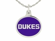 James Madison JMU Silver Enamel Charm