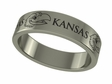 Kansas Jayhawks Stainless Steel Ring