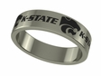 Kansas State Wildcats Stainless Steel Ring