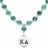 Kappa Delta Heart and Turquoise Necklace