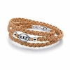 Kappa Kappa Gamma Leather Bracelet