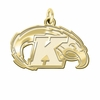 Kent State Golden Flashes 14K Yellow Gold Natural Finish Cut Out Logo Charm