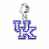 Kentucky Wildcats Silver Logo and School Color Drop Charm