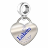 Lake Superior State Lakers Color Heart Dangle